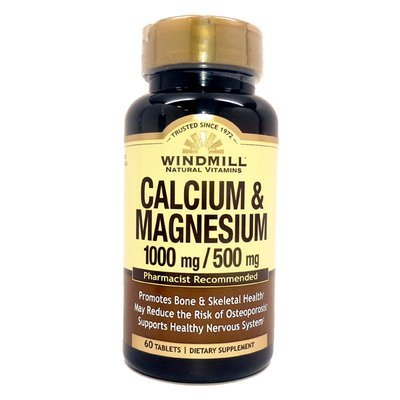 Calcium & Magnesium 1000mg/500mg     60 Tablets