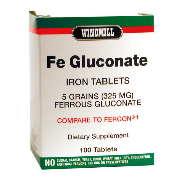 Fe Gluconate Iron Tablets     100 Tablets
