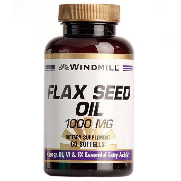 Flax Seed Oil 1000mg 60 Softgels