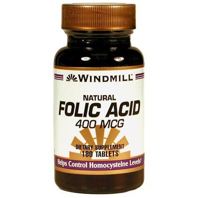 Folic Acid 400mcg    180 Tablets