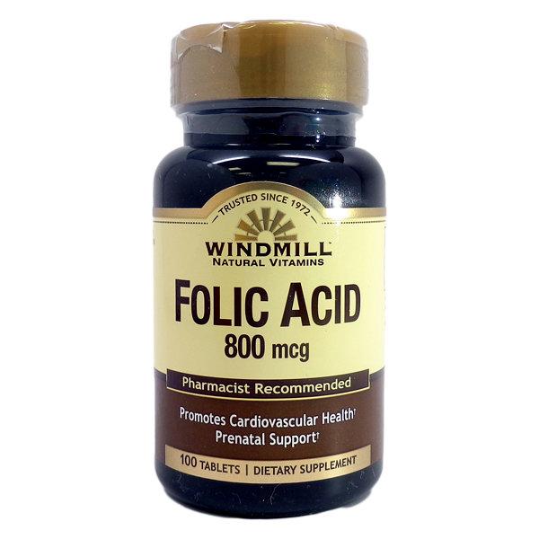 Folic Acid 800 Mcg   100 Tablets