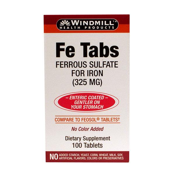 Fe Tabs Ferrous Sulfate    300 Tablets