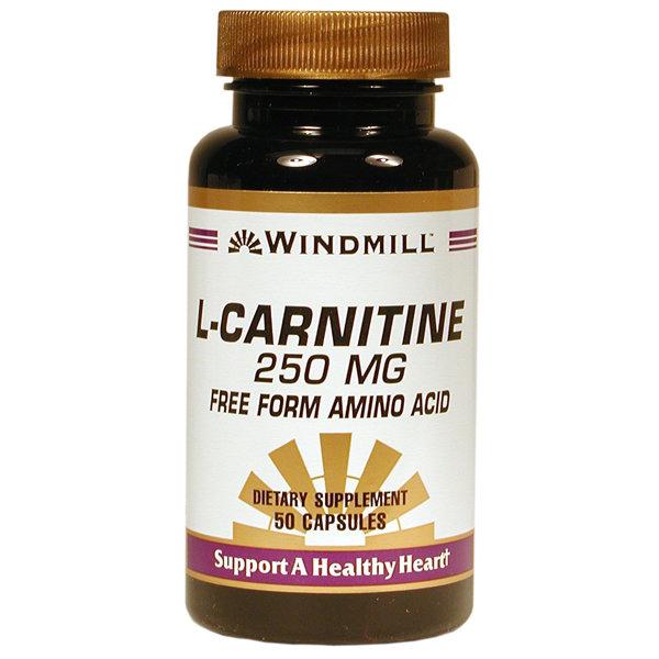 L- Carnitine 250mg  50 Capsules