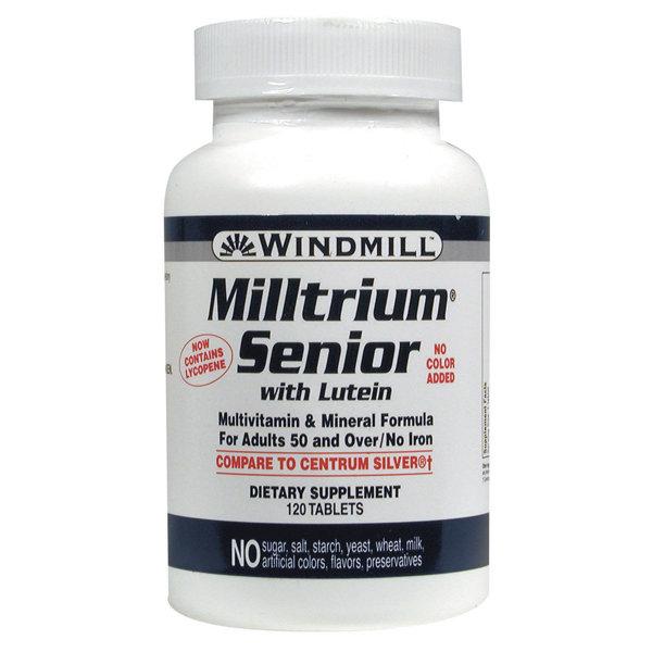 Milltrium Senior With Lutein 120 Tablets