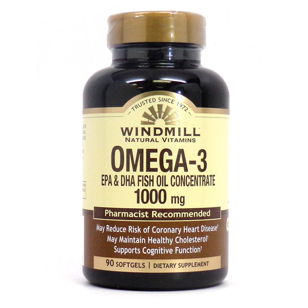 Omega 3 EPA & DHA FISH OIL 1,000MG 90 SOFTGELS
