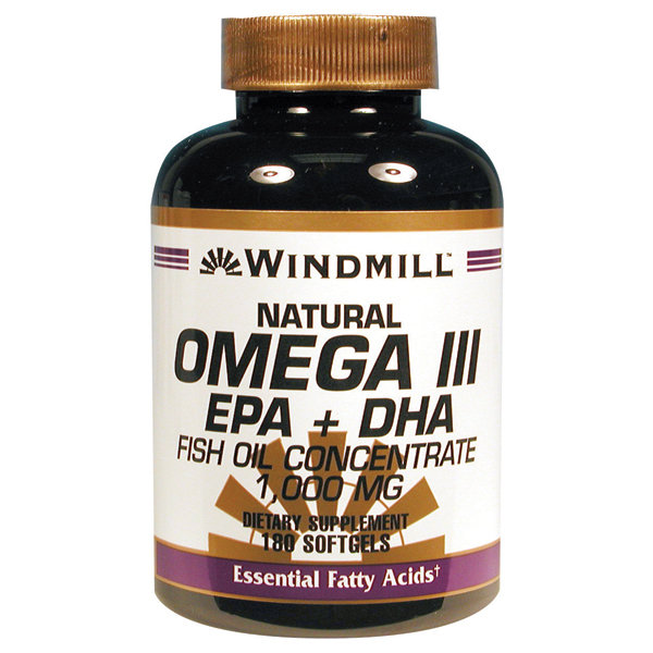 Omega 3 EPA & DHA Fish Oil 1,000 Mg 180 Softgels