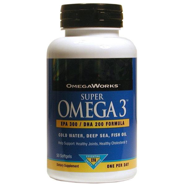 Omega Works Super Omega 3     50 Softgels