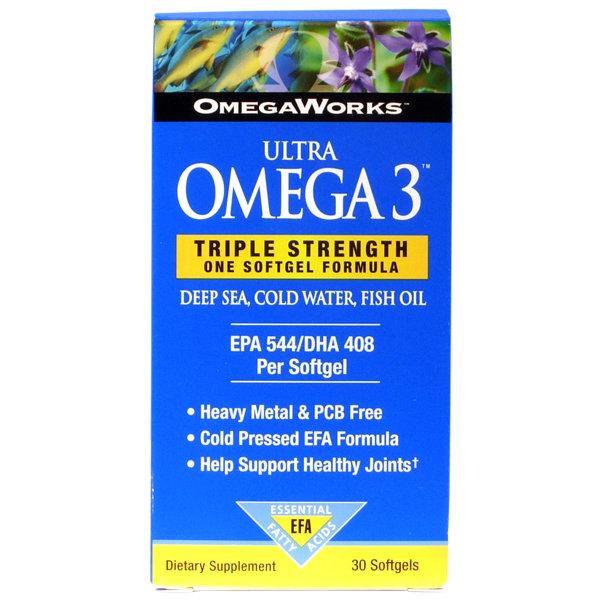 Omega Works Ultra Omega 3   30 Softgels