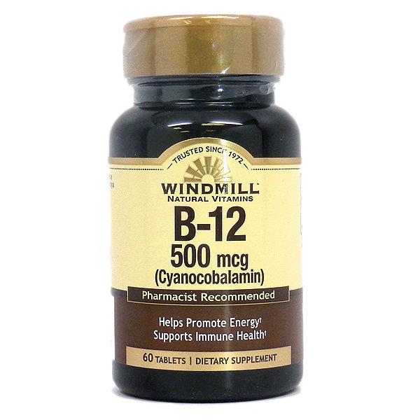 B-12   500mcg    60 Tablets