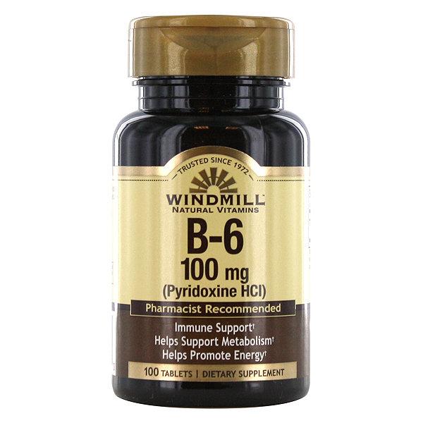 B-6 100mg   100 Tablets