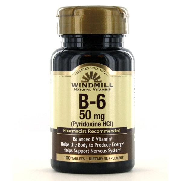 B-6 50mg 100 Tablets