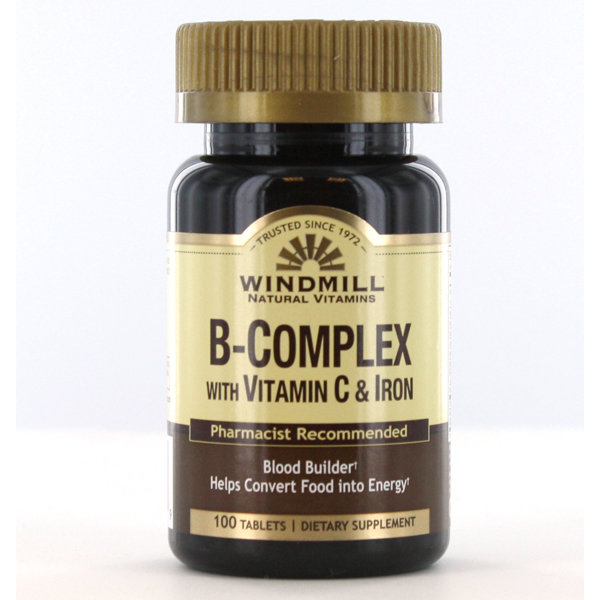 B- Complex With Vitamin C & Iron 100 Tablets