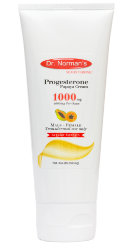 Dr. Norman's Progesterone 1000 mg Papaya