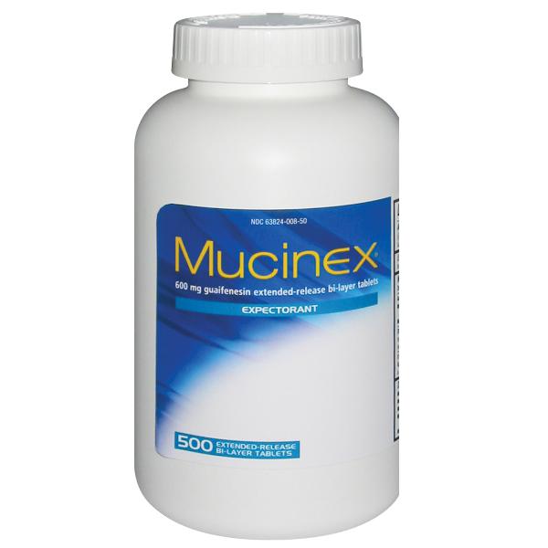 MUCINEX 600MG 500 TABLETS