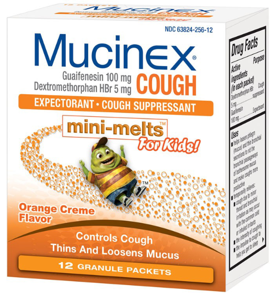 MUCINEX CHILD MINI MELTS 100MG ORANGE CREME