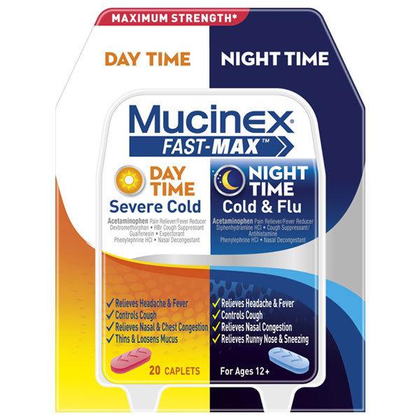 MUCINEX FAST MAX DAY & NITE