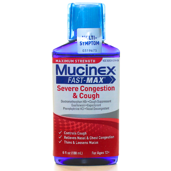 MUCINEX FAST MAX SEVERE CONGESTION &COUGH