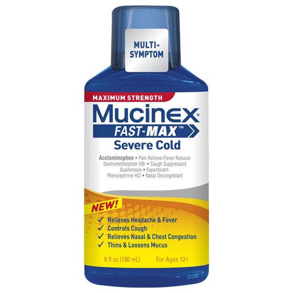 MUCINEX FAST MAX SEVERE COLD 180ML