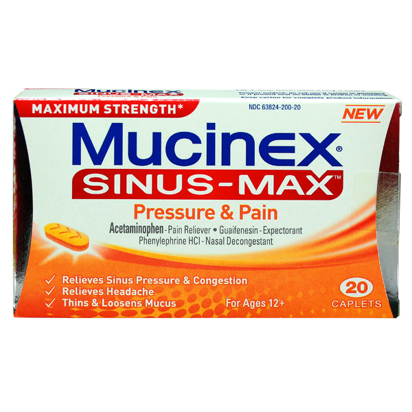MUCINEX SINUS MAX PRESS & PAIN