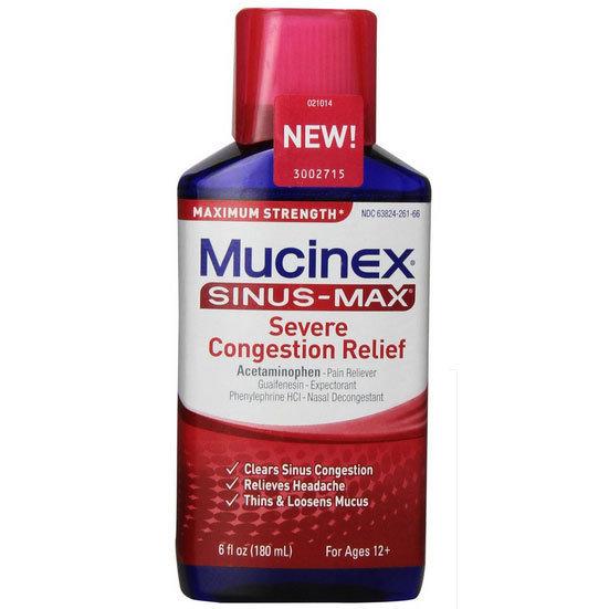 MUCINEX SINUS MAX SEVERE CONGESTION RELIEF 180ML