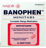 Major® Banophen 25mg. 24 Minitabs
