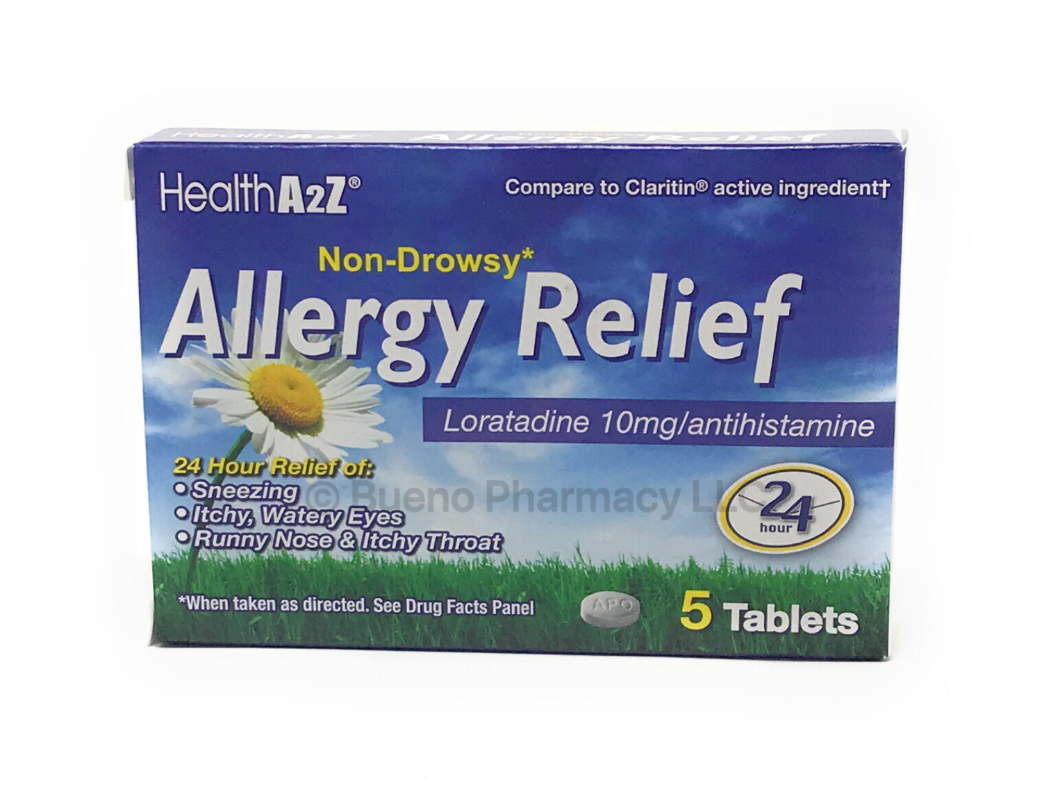 Allergy Relief A & Z Loratadine (5 Tablets)