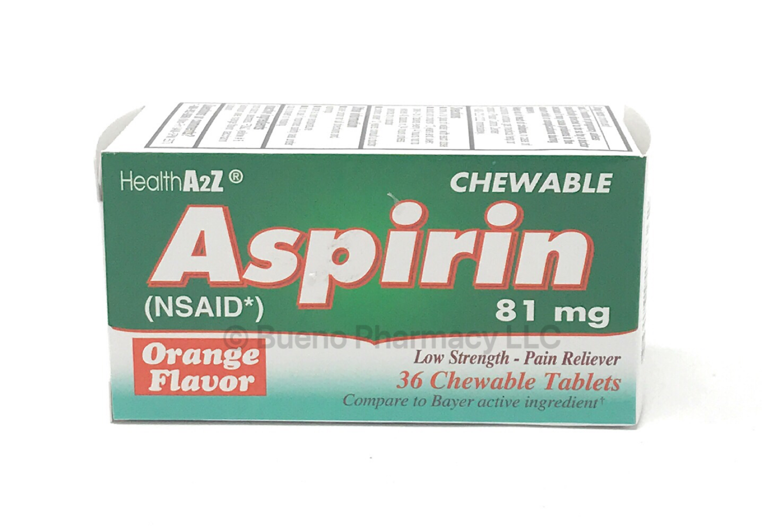 CHILD CHEWABLE ASPIRIN A&Z 36TAB