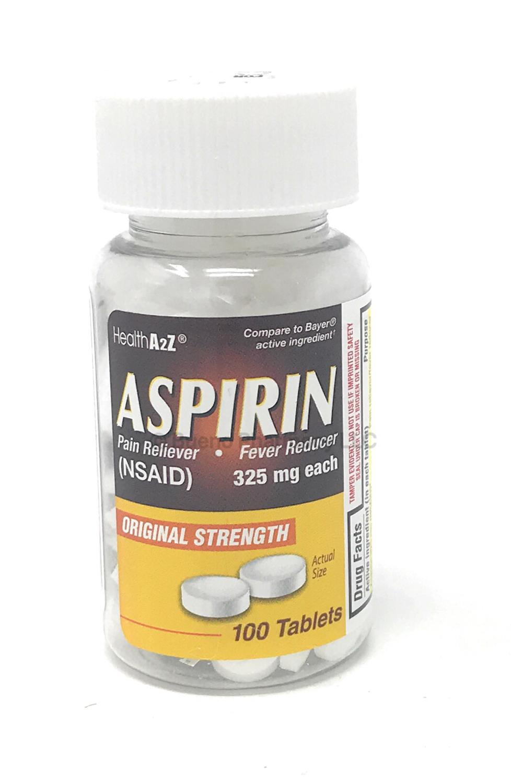 Aspirin 325MG A&Z (100 Tablets)