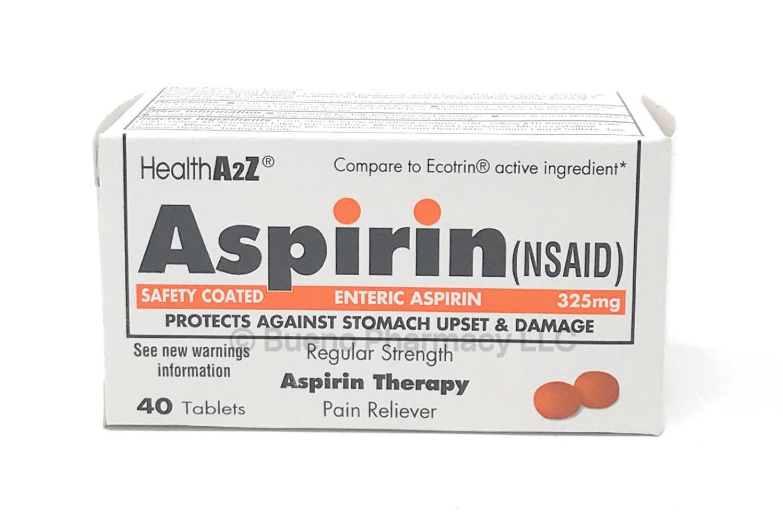 ASPIRIN E/C 325MG A&Z 40 TAB