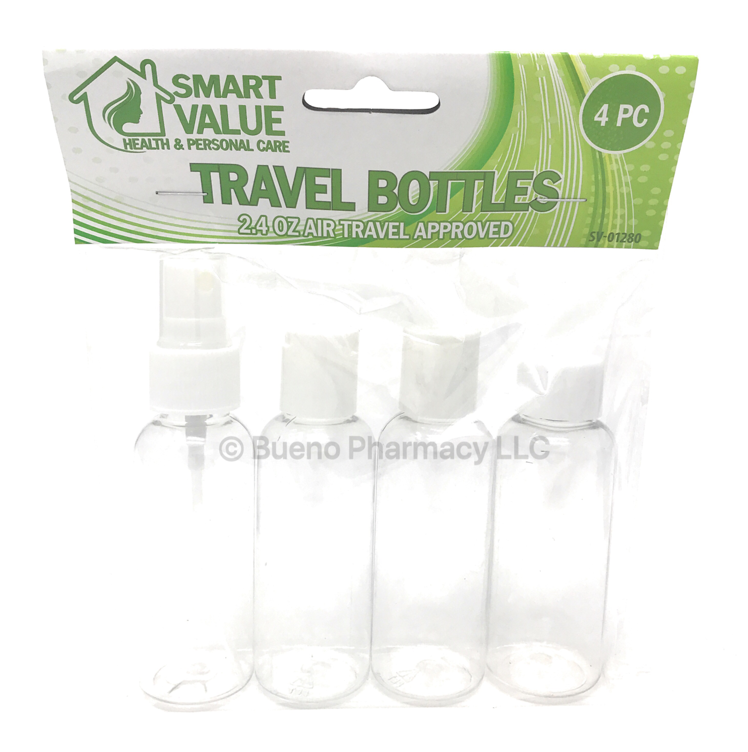 Smart Value 2.4 OZ Air TRAVEL BOTTLES 4PCS