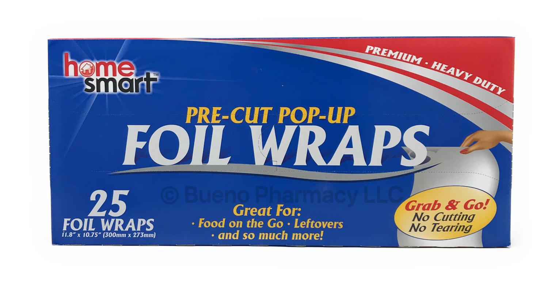Aluminum Foil Pop-Up Sheets (25 Wraps)
