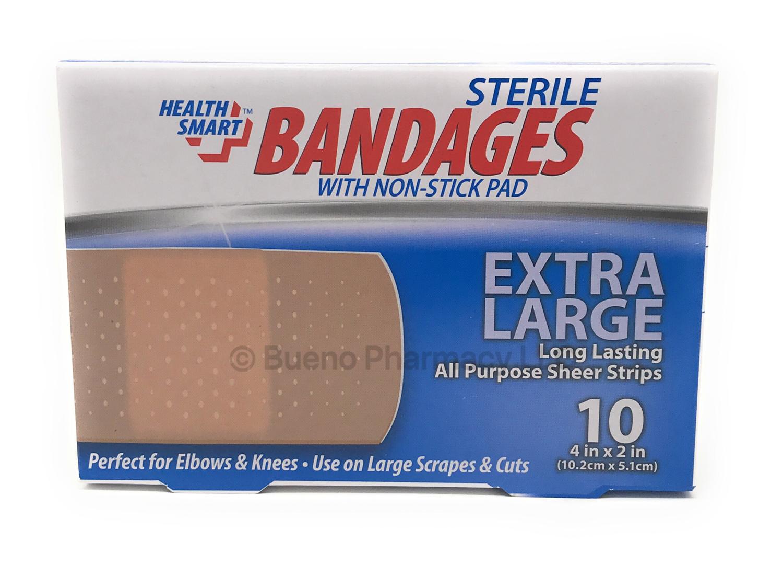 Bandages H.S. Extra Large Sheer (10 Bandages)