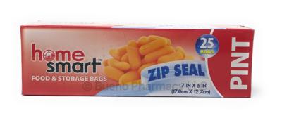 PINT ZIPPER BAG H.S. 25PCS