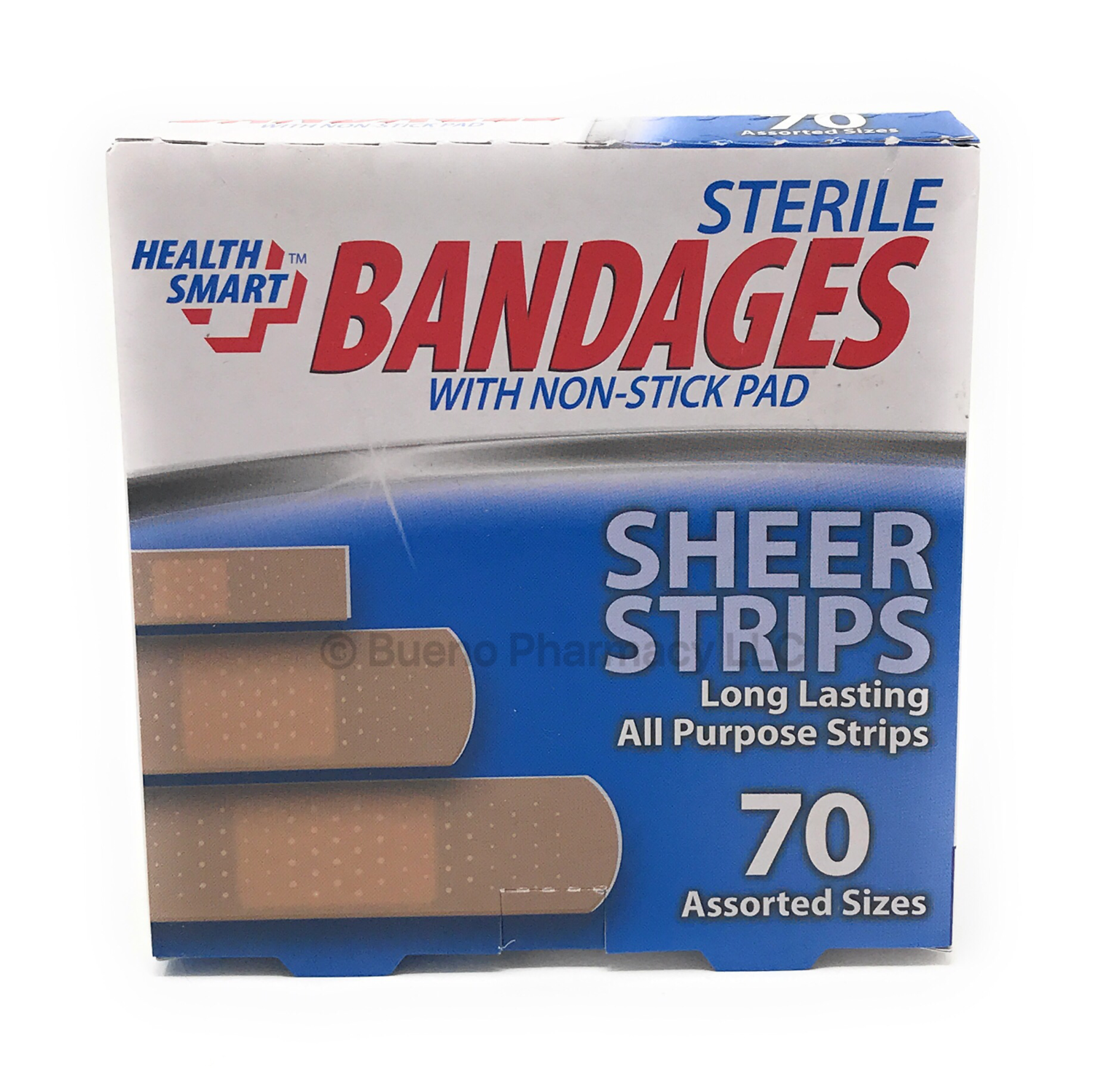 BANDAGES H.S. ASSORTED 70 SHEER STRIP