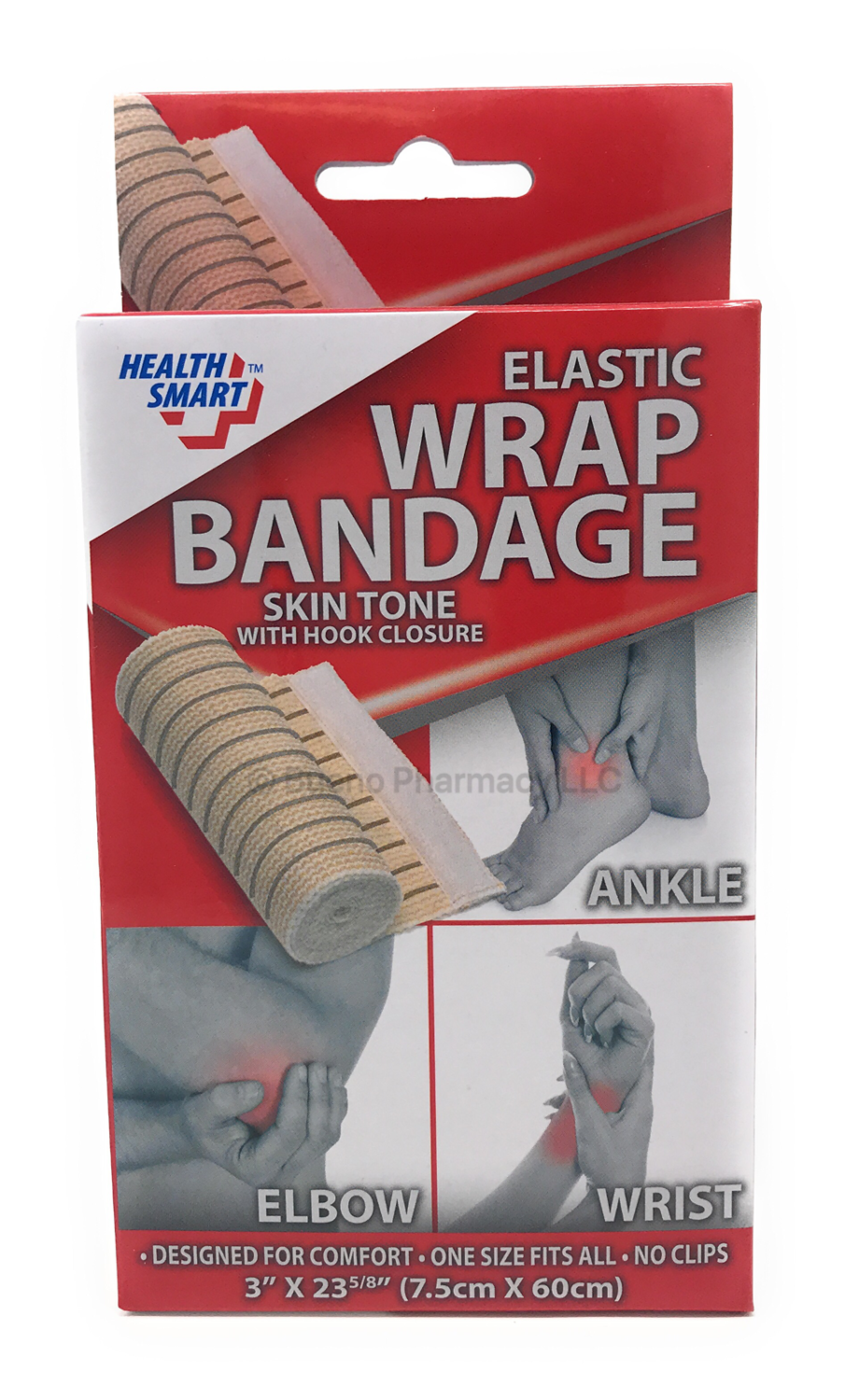 ELASTIC SUPPORT WRAP FOR WRIST, ANKLE, & ELBOW