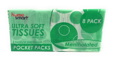 POCKET TISSUES 8PK MENTHOL