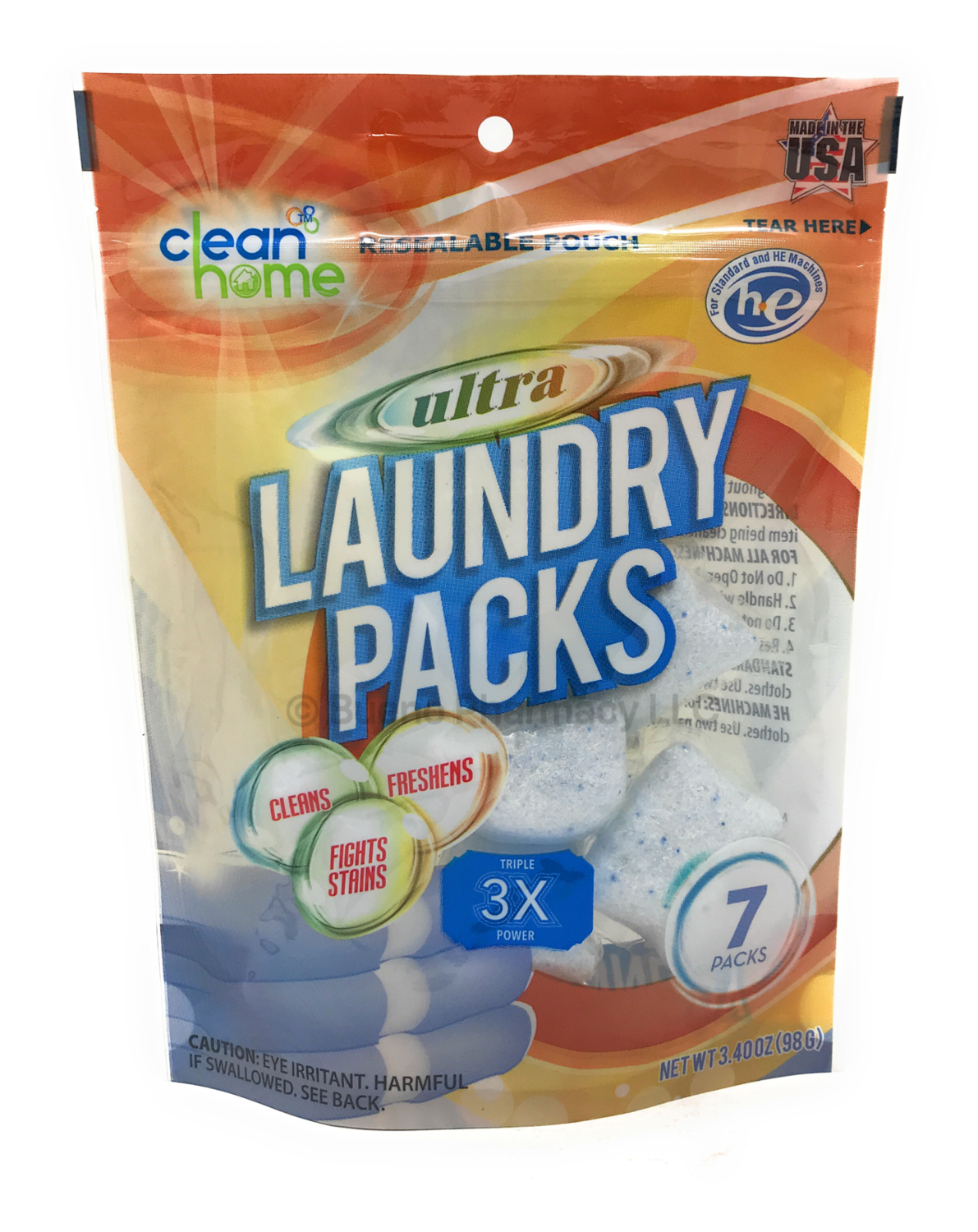 Clean Home Laundry Packs 7 Units
