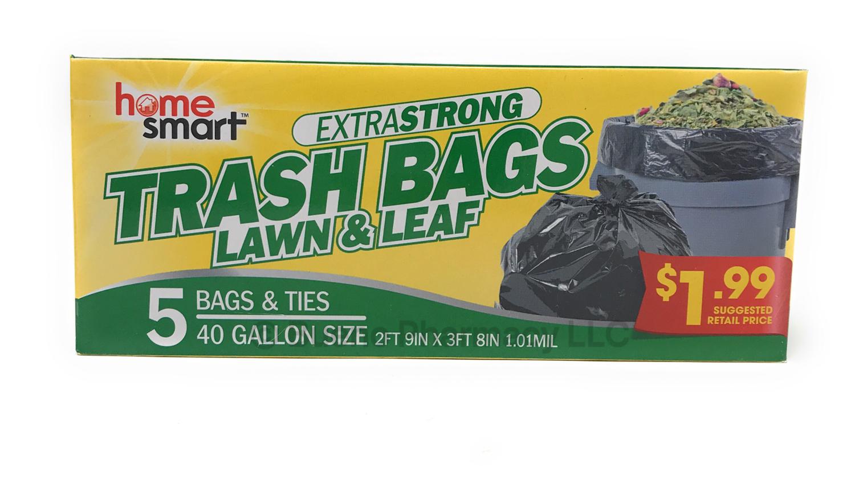 TRASH BAG 40 GALLON 5PCS