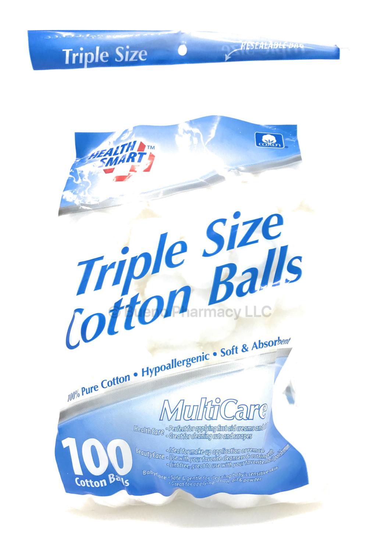 COTTON BALLS LARGE H.S. 100PCS 100% PURE COTTON.