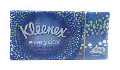 KLEENEX EVERYDAY PACKET TISSUE 8 PACK