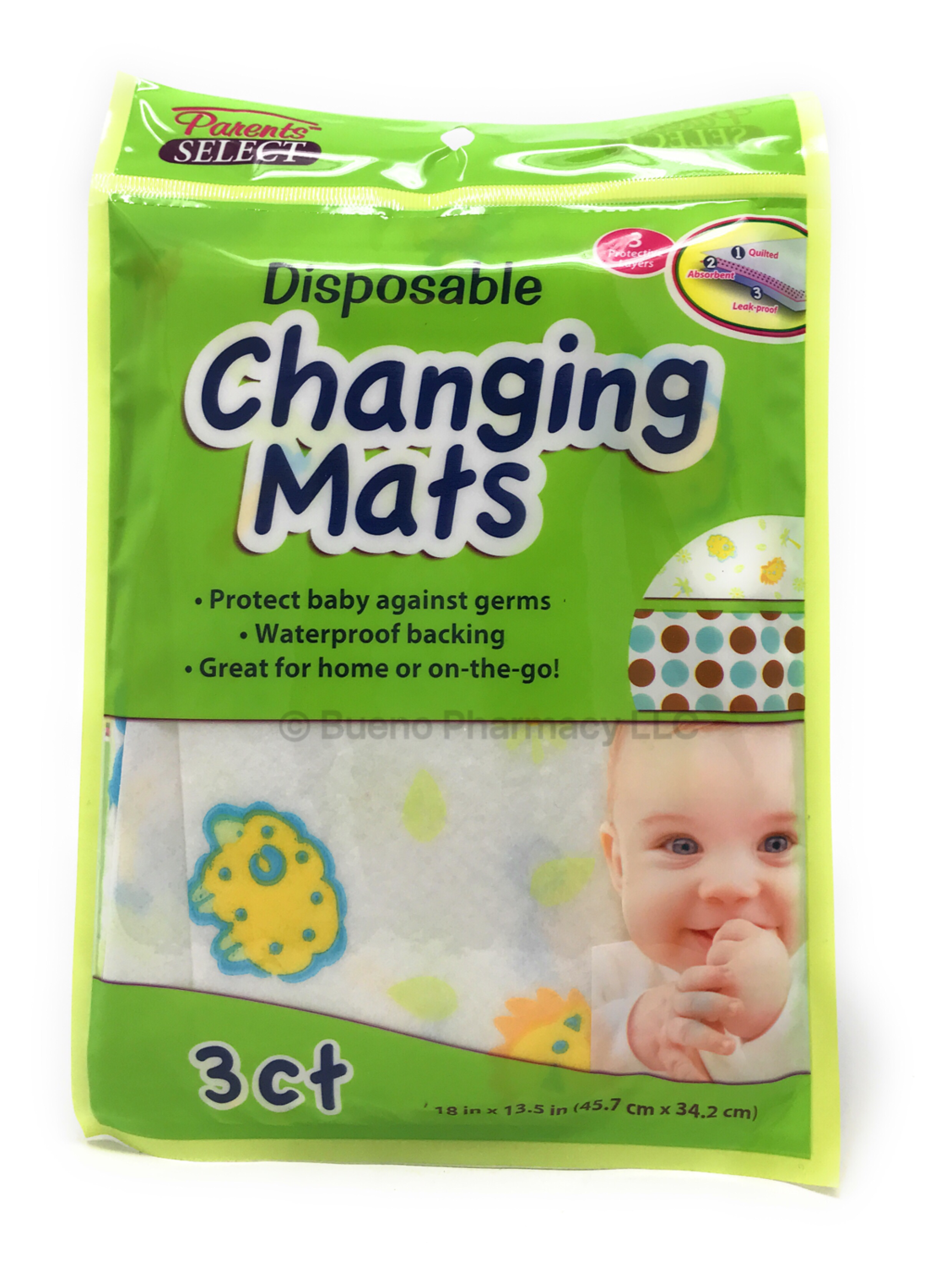 Disposable Changing Mats 3 Ct