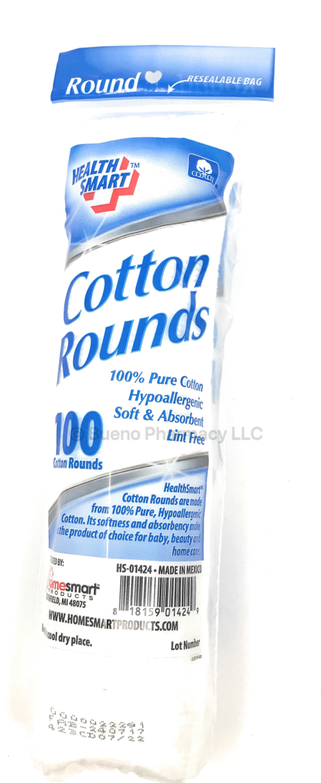 COTTON PADS ROUND H.S. 100PCS