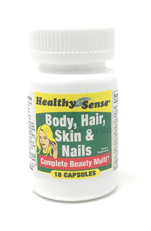 Body, Hair & Nails Vitamins Complex (18 Capsules)