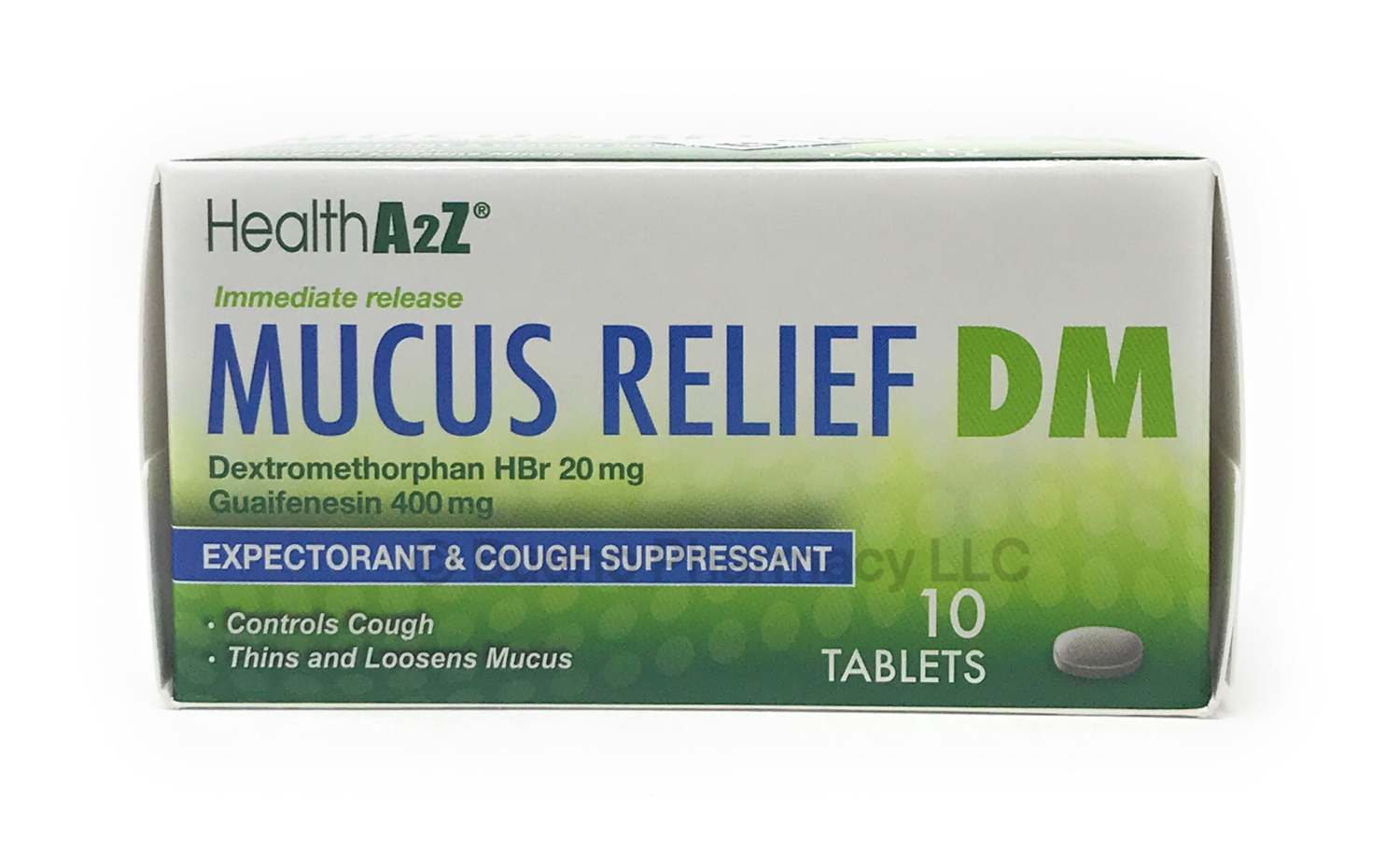 MUCUS RELIEF DM    A&Z 10 TABLETS