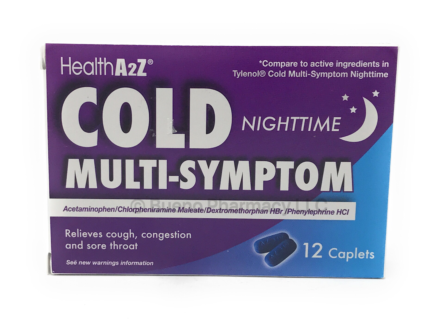 COLD MULTI-SYMPTOM NIGHT TIME A&Z 12 Caplets