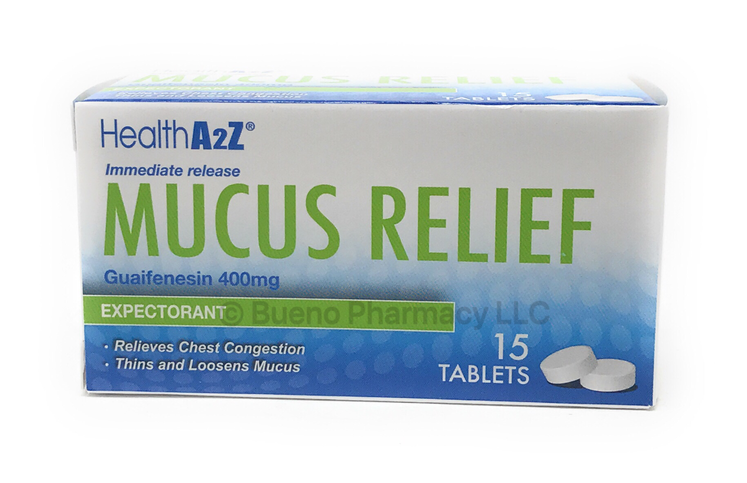 MUCUS RELIEF  A&Z 15 TABLETS