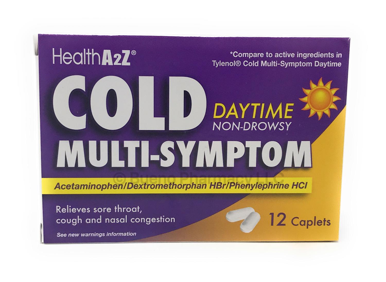 COLD MULTI-SYMPTOM DAY TIME A&Z 12 Caplets
