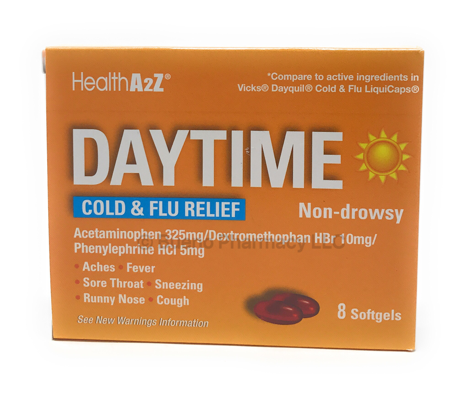 Daytime Cold & Flu Softgels A&Z (8 Softgels)
