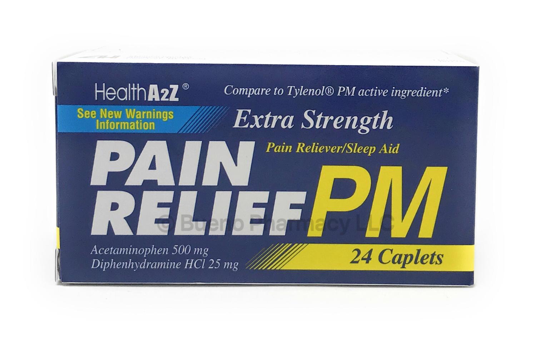 PAIN RELIEF PM A&Z 24 CAP