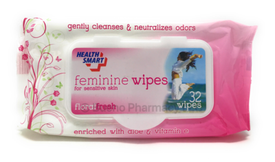 FEMININE WIPES FLORAL FRESH 32 Wipes